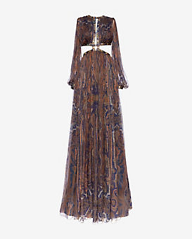 Zimmermann Cut Out Paisley Gown