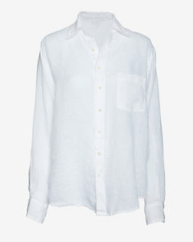 Shirt Gauzy Boyfriend Shirt: White