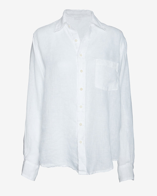 sHIRt By CP Shades EXCLUSIVE Gauzy Boyfriend Shirt: White