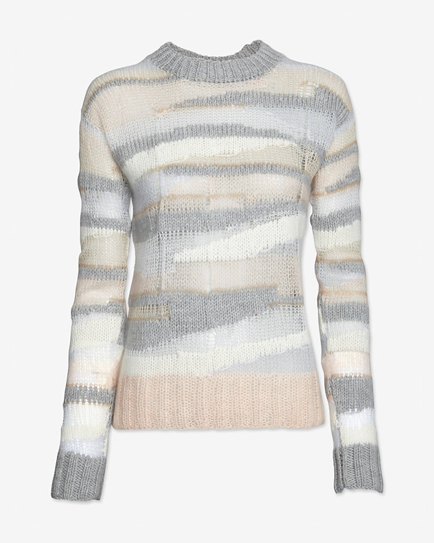 A.L.C. Oversized Open Weave Knit Pullover