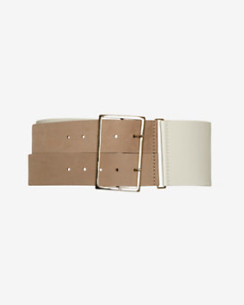 Maison Boinet Double Buckle Wide Belt