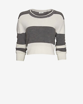 A.L.C. Brandie Striped Crop Sweater