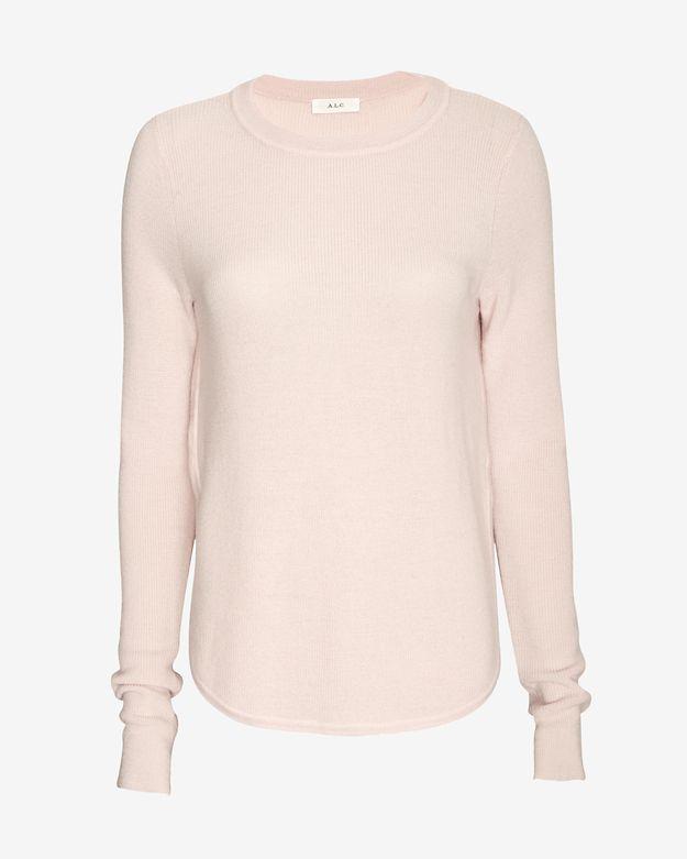 alc-jayne-side-slit-sweater by alc