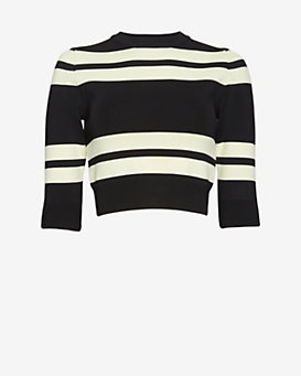 A.L.C. Townsend Striped Crop Top