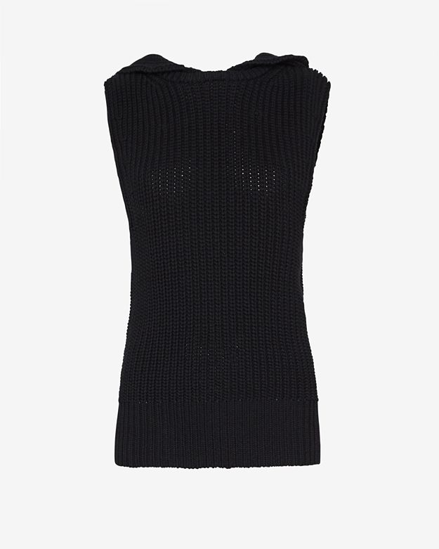A.L.C. Hooded Knit Gilet: Black