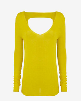 A.L.C. Open Back V Neck Sweater