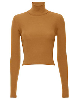 A.L.C. Milo Cropped Ribbed Turtleneck