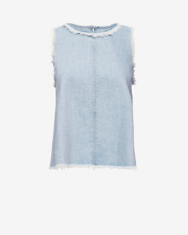 J Brand Talya Swing Denim Top