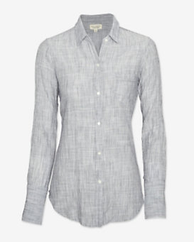 Nili Lotan Striped Chambray Shirt
