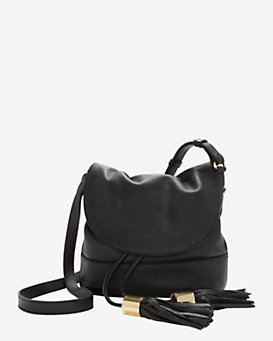 See by Chloe Flap Tassel Bucket Bag: Black