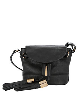 See By Chloe Vicki Flap Tassel Crossbody: Black