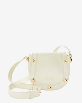 See By Chloe Gold Stud Leather Crossbody: White