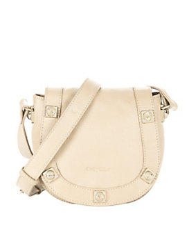 See By Chloe Gold Stud Leather Crossbody: Cream