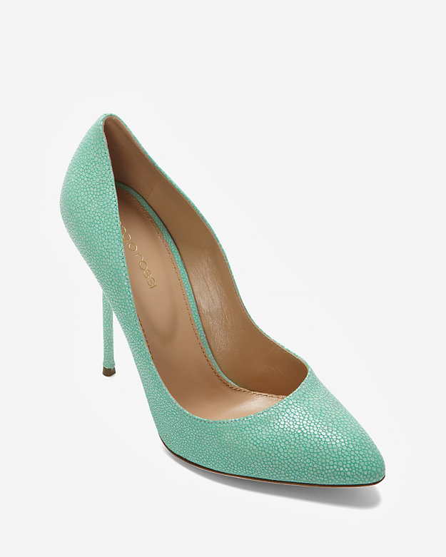 Sergio Rossi Textured Stingray Pump