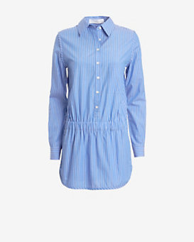 Thakoon Addition Long-Sleeve Pinstripe Romper