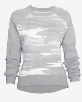 Exclusive for Intermix Camo Sweatshirt: Grey