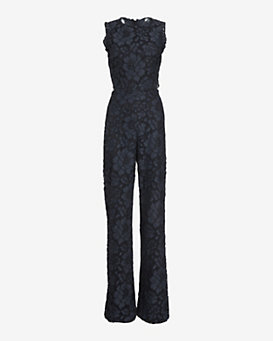 Alexis Livia Open-Back Lace Jumpsuit