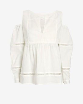 Thakoon Addition Cut Out Shoulder Blouse
