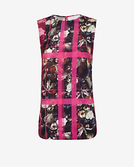 Thakoon Addition Floral Print Split Seam Tank