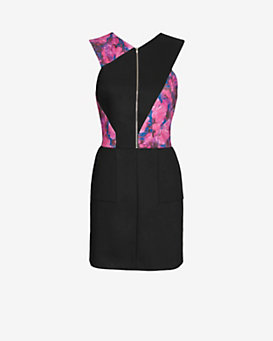Thakoon Addition Floral Print Cut Out Back Dress