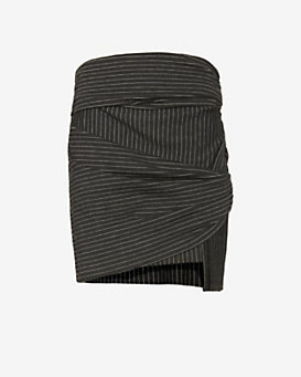 Thakoon Addition Striped Wrap Skirt