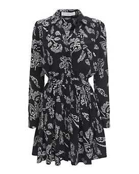 Thakoon Addition Paisley Print Button Front Dress