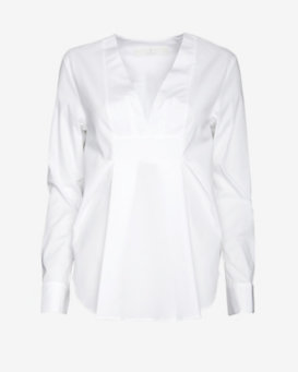 Thakoon Addition V Front Poplin Pullover Shirt