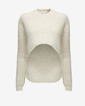 Thakoon Addition Uneven Crop Hem Pullover
