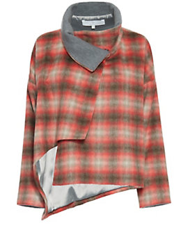 Thakoon Addition Crossover Plaid Coat