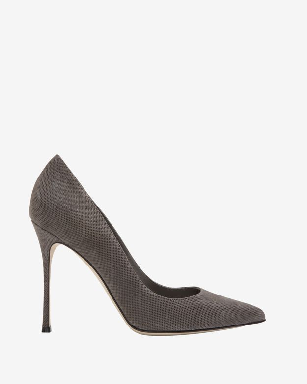 Sergio Rossi Godiva Piper Pointy Toe Pump: Grey