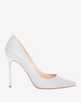 Sergio Rossi Godiva Pointy Toe Pump: Grey