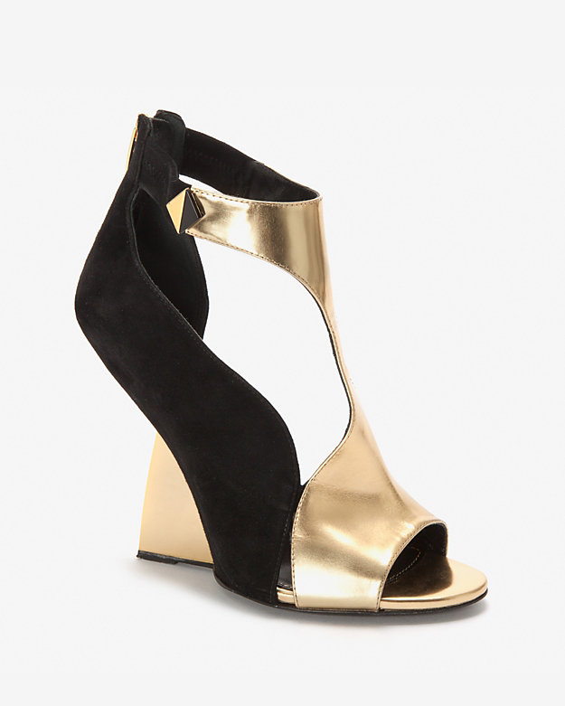 Sergio Rossi Future Metal Wedge Sandal
