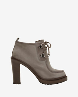 Sergio Rossi Moccasin Lace Up Bootie