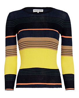 APiece Apart Striped Ribbed Knit