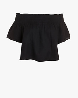 Apiece Apart Off The Shoulder Top: Black