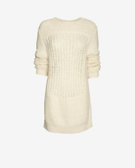 IRO Selena Sweater Dress: Ivory
