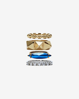 Iosselliani Deco Stackable Ring Set