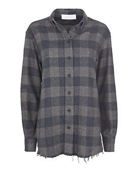 IRO Grey Plaid Flannel Shirt