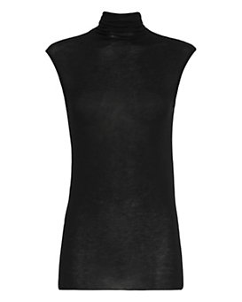 Enza Costa Sleeveless Turtleneck: Black
