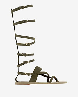 Ancient Greek Sandals Knee High Gladiator Flat Sandal