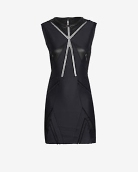 IRO EXCLUSIVE Mesh Inset Geometric Panel Dress
