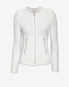 IRO Amiya Mesh Detail Jacket: White