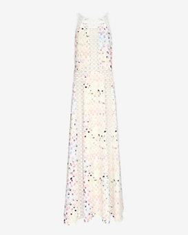 Alexis Lace Inset Printed Gown
