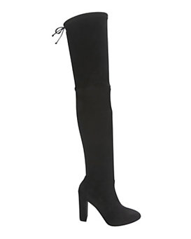 Jean-Michel Cazabat OTK Stretch Suede Boot: Black