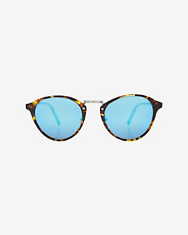 Spektre sunglasses Havana Rim Mirrored Lense Sunglasses