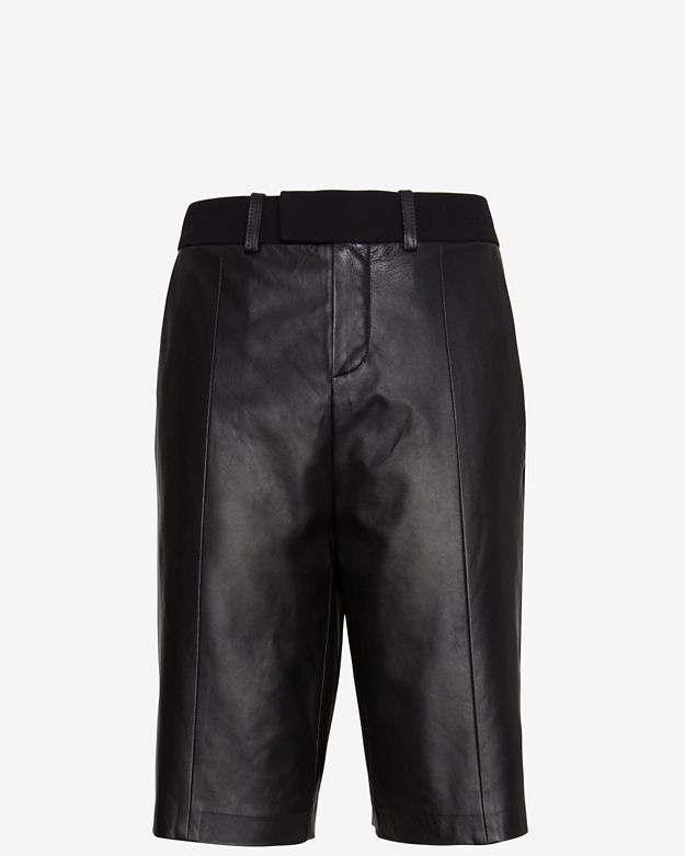 IRO EXCLUSIVE Augie Leather Trouser Short
