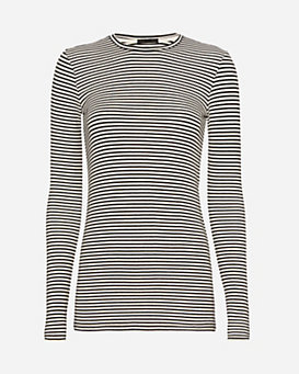 ATM Ribbed Stripe Crew Neck