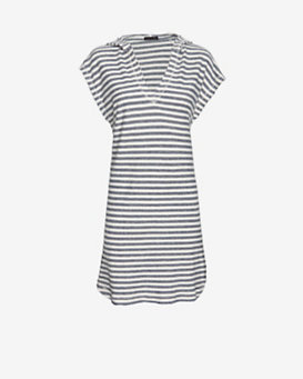 ATM Striped Terry Cotton Baja Dress
