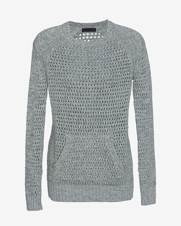 ATM Open Weave Kangaroo Pocket Knit