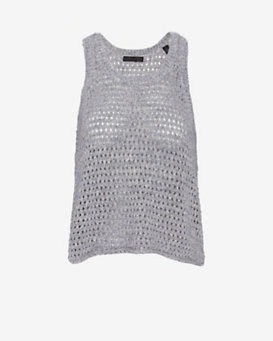 ATM Crochet Knit Swing Tank